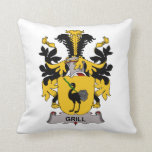 Grill Family Crest Pillows