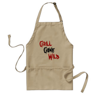 Grill Gone, Wild Adult Apron