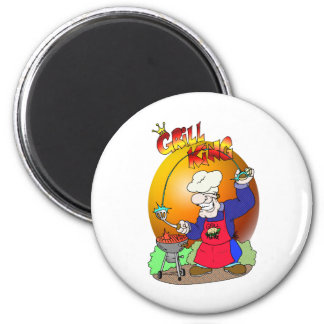 GRILL KING 2 INCH ROUND MAGNET
