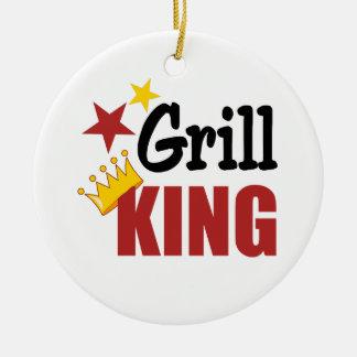 Grill King BBQ Gift Ceramic Ornament