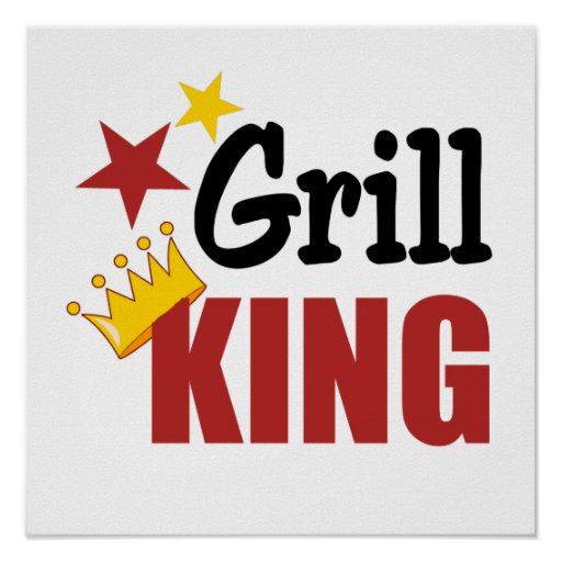 Grill King BBQ Gift Poster
