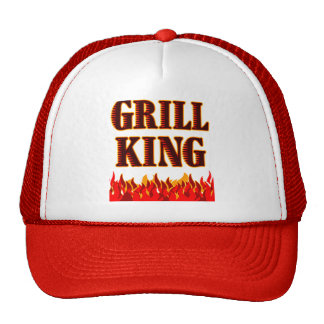 Grill King BBQ Saying Hat