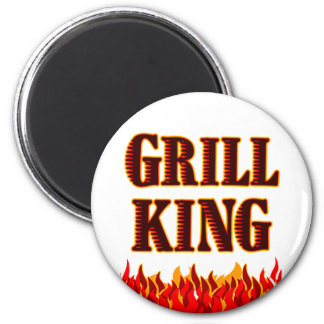 Grill King BBQ Saying Magnet