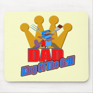 Grill King Dad Fathers Day Gifts Mouse Pad