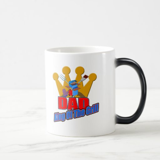 Grill King Dad Fathers Day Gifts 11 Oz Magic Heat Color-Changing Coffee Mug