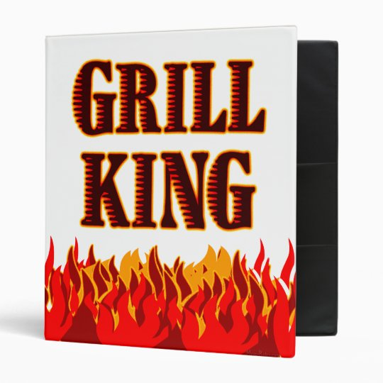 Grill King Red Flames BBQ Binder