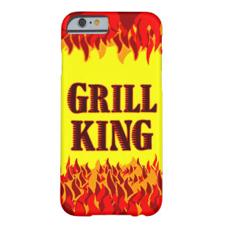 Grill King Red Flames BBQ iPhone Case
