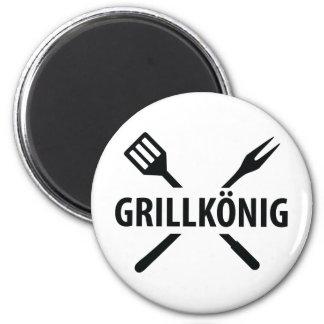Grill König icon 2 Inch Round Magnet