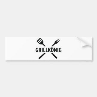 Grill König icon Bumper Sticker