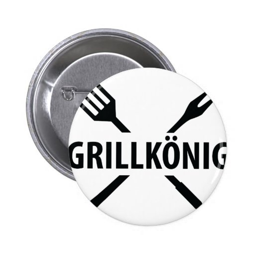 Grill König icon Pinback Buttons