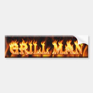 grill man bumper stickers
