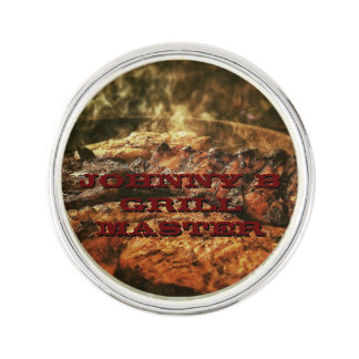 Grill Master Barbecue Personalized Gifts Pin