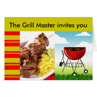 Grill Master Barbeque invitation Greeting Card
