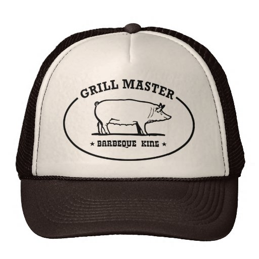Grill Master Barbeque King Trucker Hat