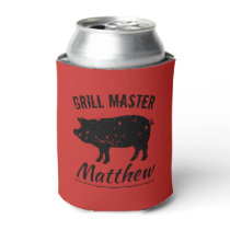 Grill master can coolers with vintage pork design