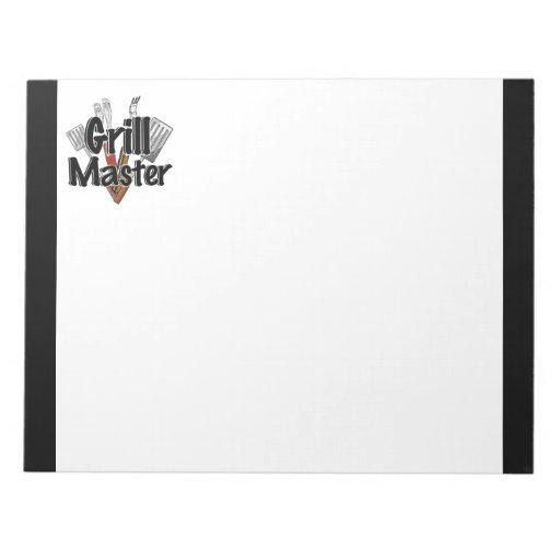 Grill Master con las herramientas del Bbq Bloc De Notas