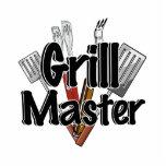 Grill Master con las herramientas del Bbq Escultura Fotográfica