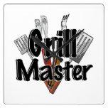 Grill Master con las herramientas del Bbq Reloj