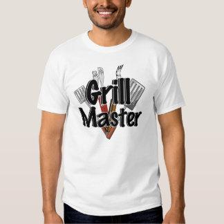 Grill Master con las herramientas del Bbq Remeras