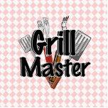Grill Master con las herramientas y la mesa de pic Escultura Fotográfica