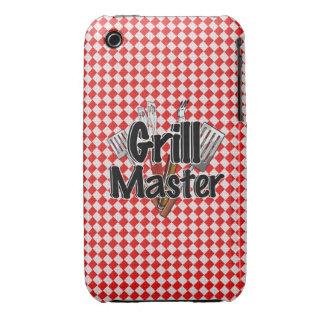 Grill Master con las herramientas y la mesa de pic iPhone 3 Case-Mate Fundas