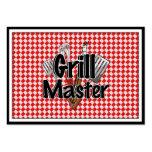 Grill Master con las herramientas y la mesa de pic Plantilla De Tarjeta Personal