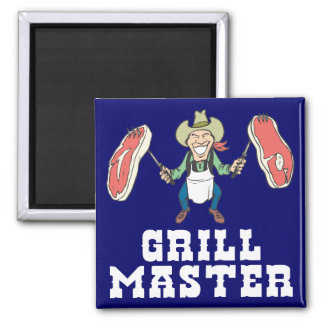 Grill Master Cowboy Magnet