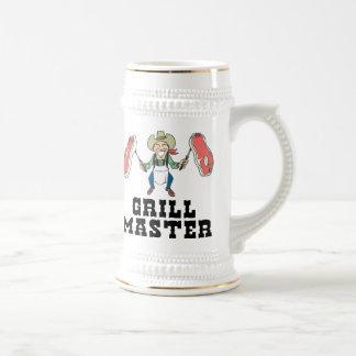 Grill Master Cowboy 18 Oz Beer Stein