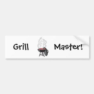 grill master!  Customizable: Car Bumper Sticker
