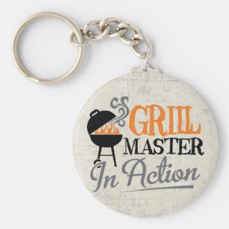 Grill Master en la acción Llavero Personalizado