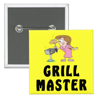 Grill Master Female Pinback Buttons