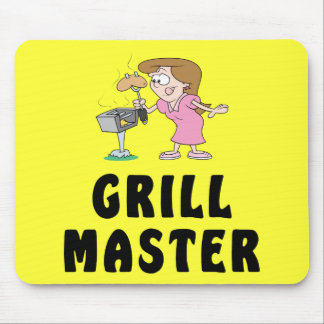 Grill Master Female Mouse Pads