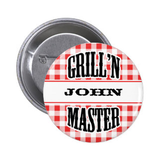 Grill Master Name Badge Tag | Pins And Buttons