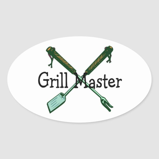 Grill Master Oval Sticker