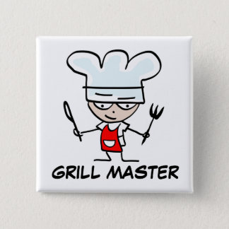 Grill master pinback button