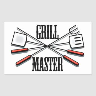 Grill Master Rectangular Sticker