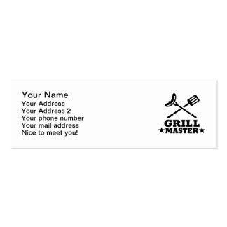 Grill Master Tarjetas De Visita Mini