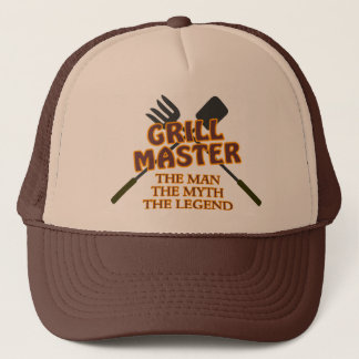 GRILL MASTER - THE MAN THE MYTH THE LEGEND TRUCKER HAT