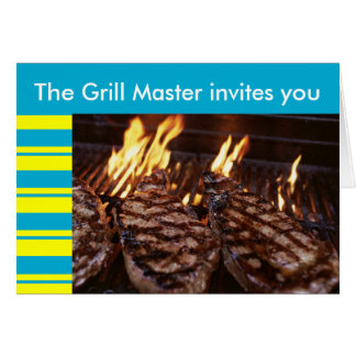 Grill Master Tiki Party Barbeque invitation