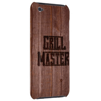 Grill Master Western Branding Iron on Wood iPod Case-Mate Cases