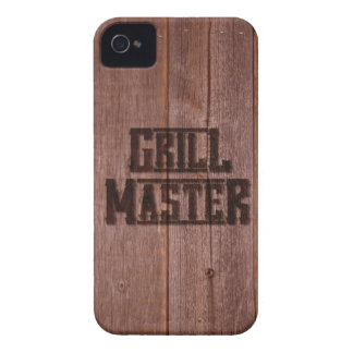 Grill Master Western Branding Iron on Wood Case-Mate iPhone 4 Cases