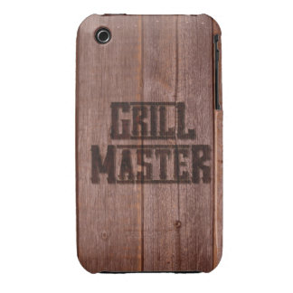 Grill Master Western Branding Iron on Wood iPhone 3 Case