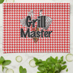 Grill Master with BBQ Tools & Picnic Table Kitchen Towels