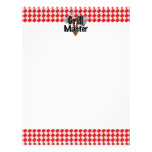 Grill Master with BBQ Tools & Picnic Table Letterhead