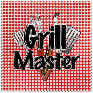 Grill Master with BBQ Tools & Picnic Table Cut Out