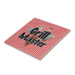 Grill Master with BBQ Tools & Picnic Table Ceramic Tile