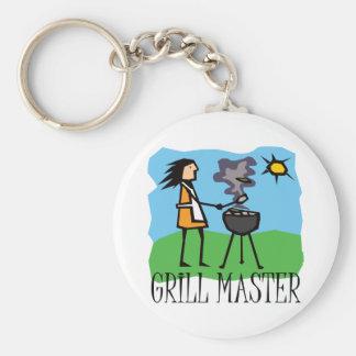 Grill Master Woman Key Chains