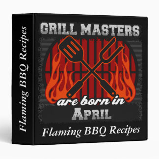 Grill Masters Are Born In April Personalized Binder
