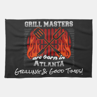 Grill Masters Are Born In Atlanta Add A Slogan Towel
