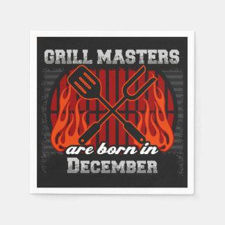 Grill Masters Are Born In December BBQ Birthday Paper Napkin